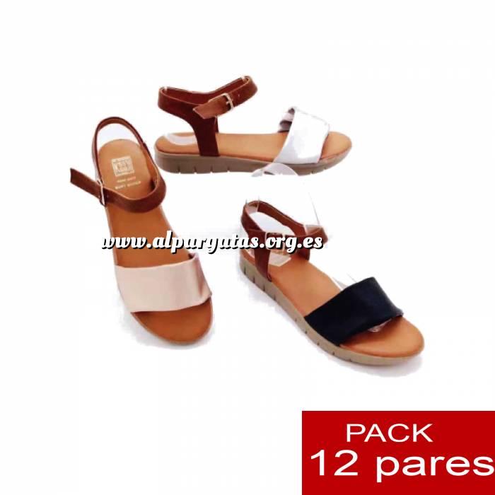 Imagen Alta Calidad Sandalias atadas al tobillo - caja 12 pares (Últimas Unidades)