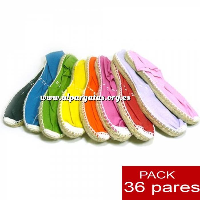 Imagen Cerradas hombre Alpargatas cerradas HOMBRE colores caja 36 pares (Últimas Unidades)