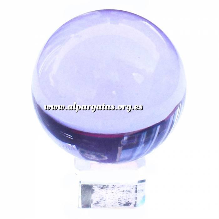 Imagen Marcos y decoración esfera cristal azul