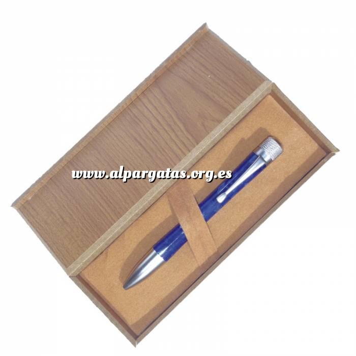 Imagen Prácticos mujer Bolígrafo azul en caja de madera (Últimas Unidades)
