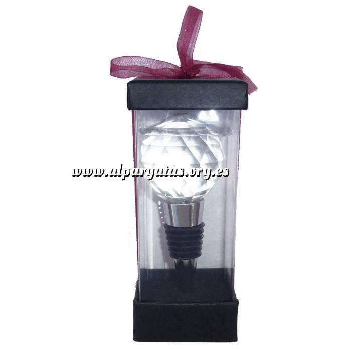 Imagen Set de vino Tapón de vino cristal tallado - pelota (Últimas Unidades)