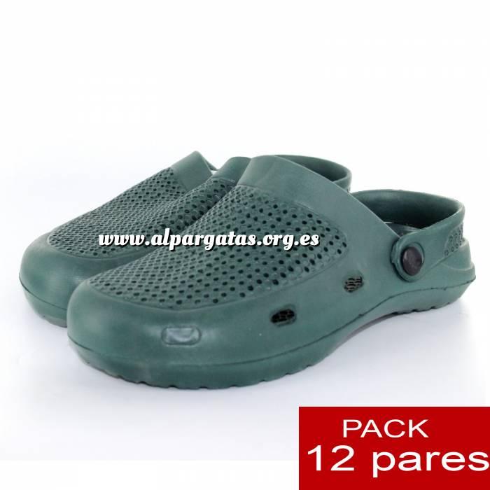 Imagen Zuecos tipo Crocs Zuecos tipo Crocs HOMBRE - Verde Kaki - CAJA DE 12 UDS (Últimas Unidades)