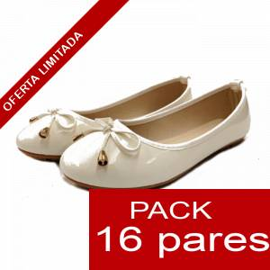 Alta Calidad - Manoletinas 601 WHITE - Caja 16 pares (Últimas Unidades)