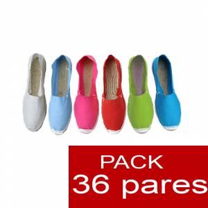 Cerradas mujer , Alpargatas cerradas Boda Surtidas en colores y tallas , caja de 36 pares