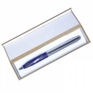 Pr�cticos mujer - Bol�grafo invertido Azul/Plata en caja de madera azul (�ltimas Unidades)